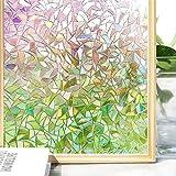 Do4U 3D no-Glue Statische Illuminative Dekorative Sichtschutz Glas Fenster Film Aufkleber UV Rainbow Muster Upgrade Version für Home Küche Büro, Multi, 45 * 100cm …