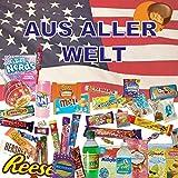 QueenBox® 🍭Süssigkeiten aus aller Welt Großpackungen   25 x Süßigkeiten Mix   USA Box   Asia, Russia, Arabic Schokolade 🍫  
