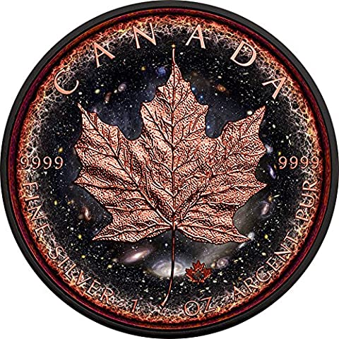 LOGARITHMIC UNIVERSE Maple Leaf Space Collection 1 Oz Silver Coin 5$ Canada 2016 Moneda