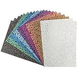 Effekt-Papier, Floral-Design, metallic, DIN A4, 128g/m², 20 Blatt | Bastelpapier, Glitzerpapier | für Grußkarten, Scrapbooking, DIY, Karten, Basteln, Dekoration