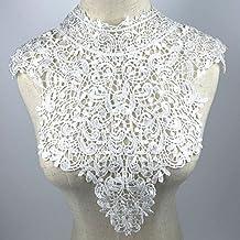 e2df448ab1faf yulakes cuello de encaje insertar collar cuello decorar para vestido DIY  Handwork (color blanco)
