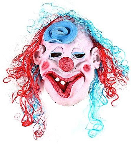 Maschera carnevale veneziano da pagliaccio clown it con cappellino da uomo e donna, travestimento maschera horror per halloween