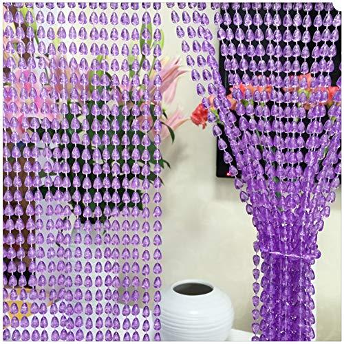 Raumteiler 4-panel-bildschirm (GuoWei Perlenvorhang Türvorhang Kunststoff Türöffnung Raumteiler Dekoration Panel Bildschirm Anpassbar (Farbe : Lila, größe : 100 Strings -100x200cm))