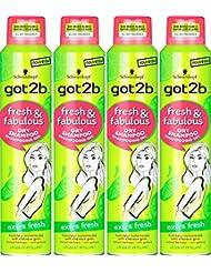 got2b Shampooing Sec Fresh/Fabulous Extra Fresh 200 ml - Lot de 4