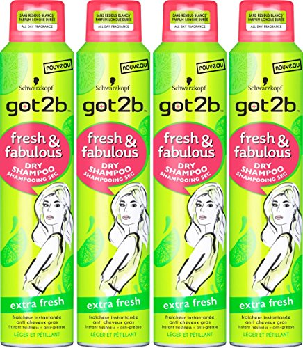 got2b Sec Fresh/Fabulous Extra Fresh Shampoo 200 ml – 4 Stück