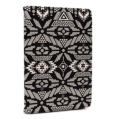 Kroo MU08PS01-10404 Universal-Schutzhülle für Tablets mit 6 bis 8 Zoll (15,2-20,3 cm), mit weichen Gelklemmen Black-Navajo 6 to 8 Inch