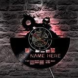 LXZ Led Vinilo Reloj Led Ligero Personalizar Dj Nombre Personalizado Disco Vivo Habitación Decorativo Art Lámpara Hecho A Mano Regalos Por Club