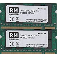 Raptor Memory 4GB kit (2X 2GB) DDR2SO-DIMM PC5300667MHz NOTEBOOK LAPTOP RAM Memory memoria ram