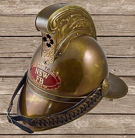 historicalmuseumstore Full Brass Firemen Helmet Merryweather Helmets Victorian Fire Fighters