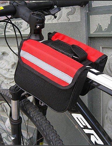 ZXC/solomo? Fahrrad Rahmen Tasche Fahrrad/Bike für alle Handys (tragbar/Multifunktional/rot/schwarz/blau/600D/16* 13* 5cm) 12#