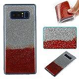 Ooboom® Samsung Galaxy Note 8 Hülle TPU Silikon Gel Luxus Weich Dünn Handy Tasche Case Bumper Schutz Cover für Samsung Galaxy Note 8 - Weinrot Silber