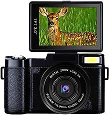 Digitalkamera Full HD Videokamera 1080P 24.0MP Vlogging Kamera Flip Bildschirm 180 Grad-Drehung