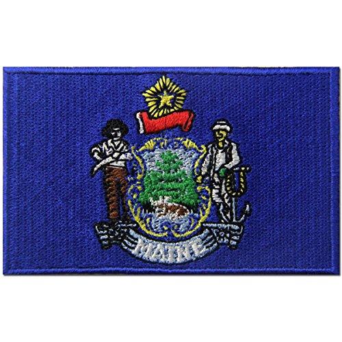 Maine STATE Flagge gesticktes Abzeichen Eisen auf Sew auf mich Patch