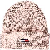 Tommy Hilfiger Damen Strickmütze TJW Basic Rib Beanie, Rosa (Silver Pink 655), One Size (Herstellergröße: OS)