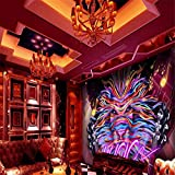 Hintergrundbild Wandsticker Wandtattoo Wanddekorationbenutzerdefinierte 3D-Hintergrund Bunte Popmusik Ktv Dekoration Hintergrund Wandbild Bar Thema Restaurant Galerie Flur Tapete, 430 * 300Cm