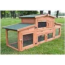 Zooprimus Cage Clapier lapin Extérieur en bois de pin Haute Qualité pour  lapins 185x51x75cm - 037 1466db5a0ae6
