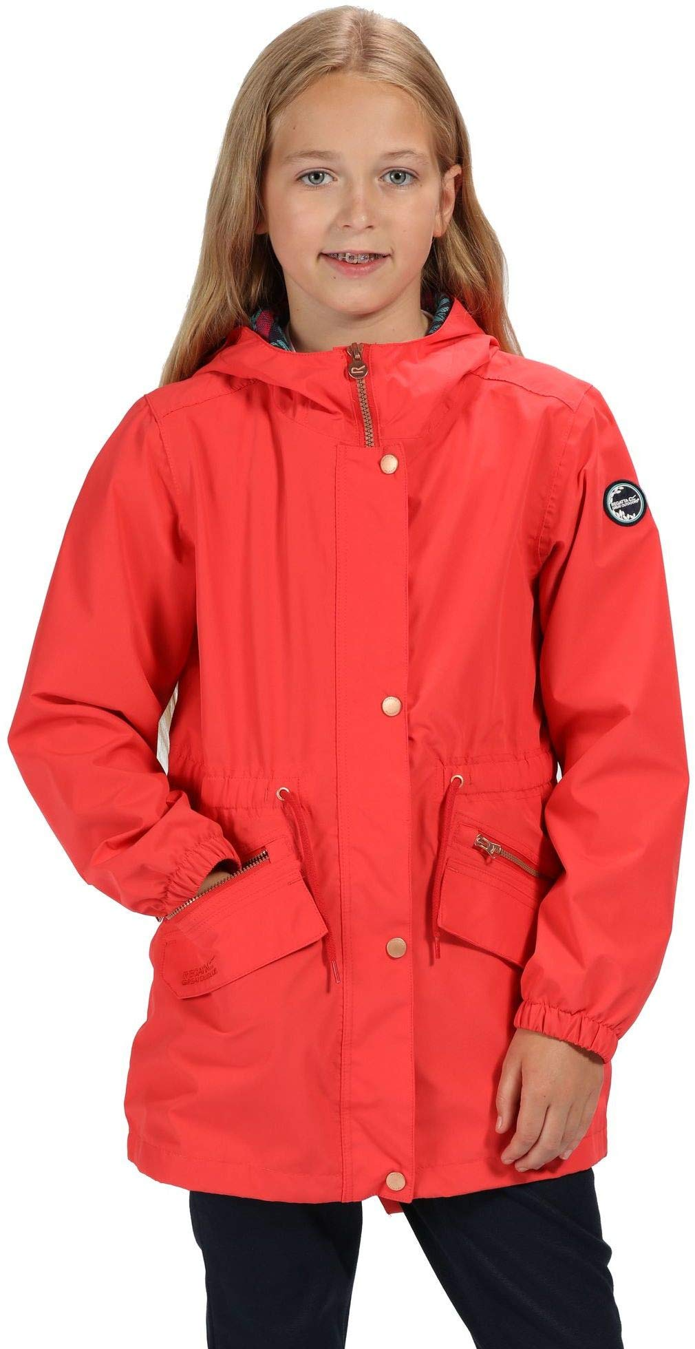 Regatta Kid's Tamora Waterproof and Breathable Fishtail Hem Hooded Outdoor Jacket 1