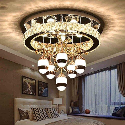 ZHANGRONG-Gute Qualität- Flush Mount Light LED Kristall Deckenleuchte für Wohnzimmer/Schlafzimmer/Esszimmer Dreifarbige Dimmen Durchmesser 50cm 132W -Efficiency:A+++ -