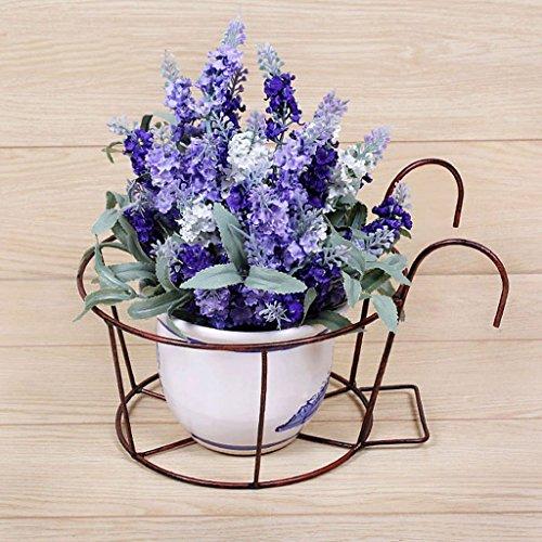 MOMO Étagères à fleurs Étagère à fleurs en fer Balcon Étagère à crémaillère Garde-corps Windowsill Pot à fleurs,Cuivre
