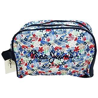 Pepe Jeans Bella Caso Make Up Bag Bolsos Neceser Adaptable Vanity Estuche azul