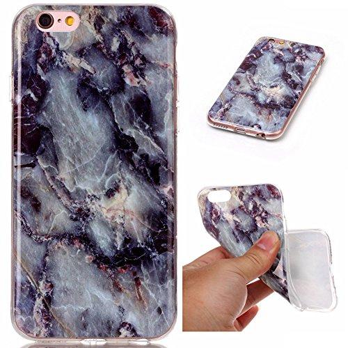 Hosaire 1x Handy Schalen Rückseite Taschen Hülle für Apple iphone 6/6s,Mode Marmor Muster Phone Case Back Cover Farben#4