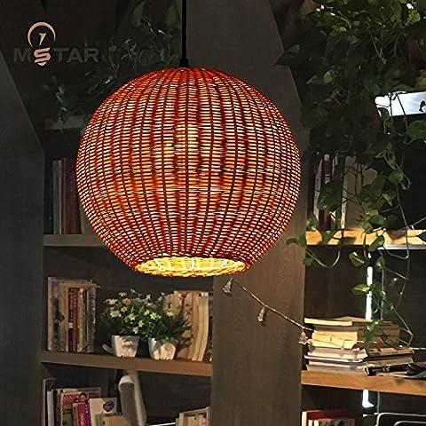 LYNDM Elite per il sud-est asiatico lampadari di paglia di bambù creativo di luce che fa aderire il corridoio balcone rattan lampadari lampadari di orbs , piano di diametro(senza luce)