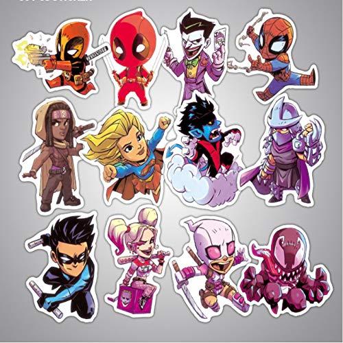 YLGG Set Nicht Repetitive Marvel Superheros Cartoon Aufkleber Auto/Gepäck Taschen/Laptop PVC Abziehbilder Coole Aufkleber Spielzeug 50 Stücke / -