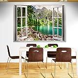 murando - 3D WANDILLUSION 140x100 cm Wandbild - Fototapete - Poster XXL - Fensterblick - Vlies Leinwand - Panorama Bilder - Dekoration - Natur Landschaft c-B-0209-c-a