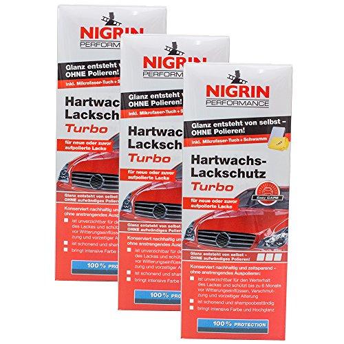 Preisvergleich Produktbild 3x NIGRIN 72962 Performance Hartwachs-Lackschutz Turbo 500 ml