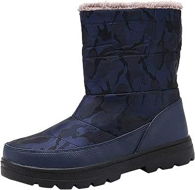 Stivali Donna in Cotone da Neve Impermeabile con Scarpe mimetiche Calde in Velluto Plus