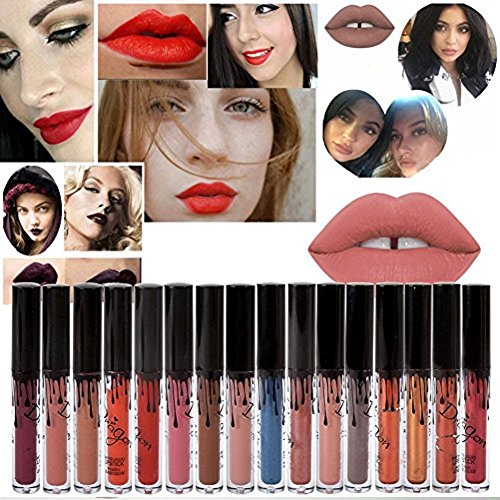 ROMANTIC BEAR 16 Colors Waterproof Long Lasting Matte Liquid Lipstick Beauty Lip Gloss