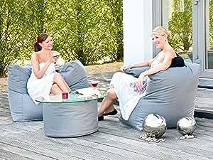 Outdoor Sitzsack Caribbean Armsessel 90x65 cm anthrazit Sitzsessel Gartenmöbel Gartensessel