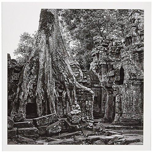 Schwarz, Weiß Vajrayana Buddhistische phras ANG Tep Kloster-Grußkarte, 15,2x 15,2cm, Single (GC 179876_ 5)