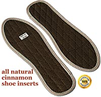 Shoe Inserts for Stinky Feet-Foot Odour Insoles Shoes-Cinnamon Inserts Eliminate Odour-Stop Smelly Feet Manage Foot Infections UK 12 30.5cm Brown