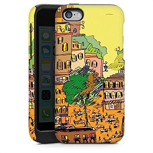 Apple iPhone 5s Housse étui coque protection Ville couleurs Art Cas Tough brillant
