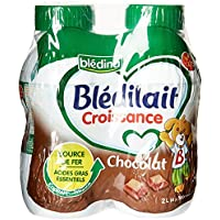 Blédina Blédilait Lait de Croissance Liquide Chocolat de 10 Mois à 3 Ans 4 Bouteilles x 500 ml