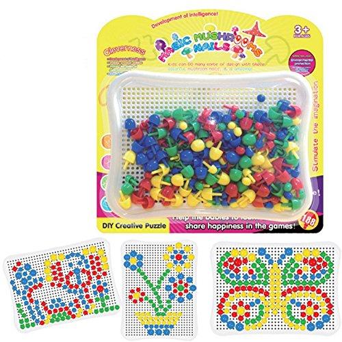 Dibang Puzzle aus Kunststoff Steckspiel inklusiv 188 Stecker Intelligentes Spielzeug für ab 3 Jahre Kindergarten