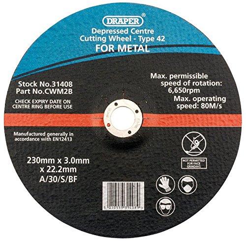 Draper 230 x 22,2 x 3.0 mm Roue de coupe à moyeu déporté Métal