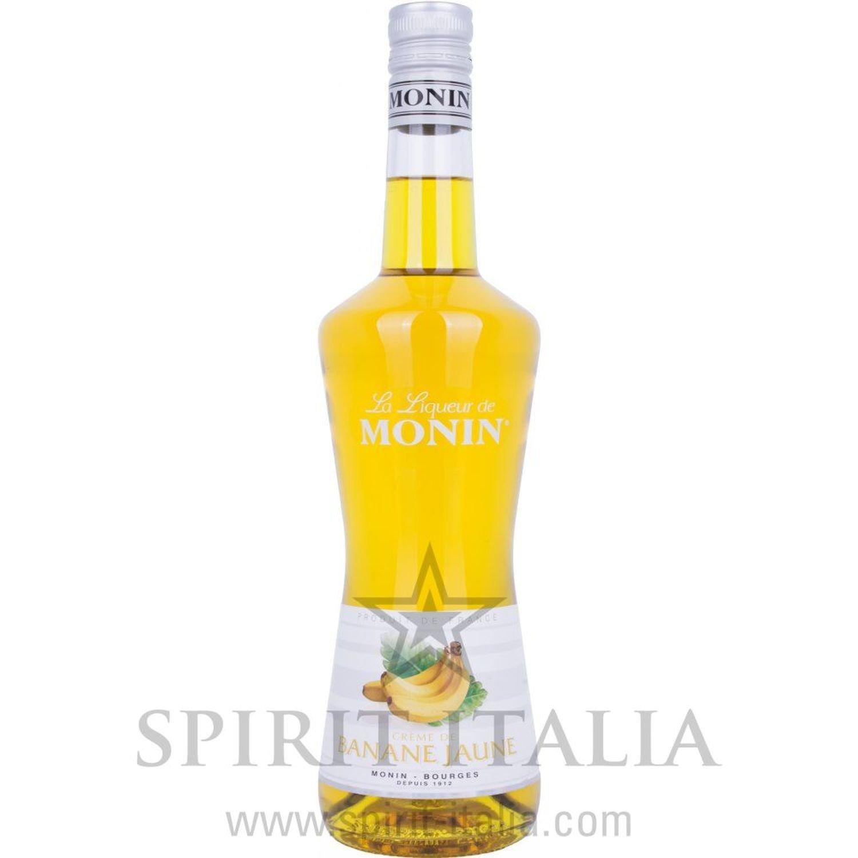 Monin CREME DE BANANE JAUNE Bananen-Liqueur 20,00 % 0.7 l.