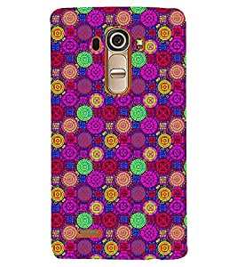 Printvisa Dual Colour Circular Pattern Back Case Cover for LG G4::LG G4 H815