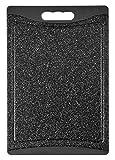 H+H Granit Schneidebrett mit Rutschfester Unterseite, Polypropylen, Grau, 24.5x 36x 1cm
