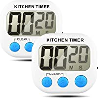 Senhai Timer da Cucina  conteggio up Down Grande Display LCD elettronico Timer Memoria 2 Pack