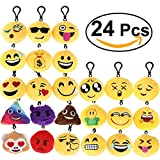 Giocattoli Best Deals - BESTOMZ Portachiavi, Mini Pop di Peluche Portachiavi, Portachiavi Decorazioni 6cm, Giallo (Set di 24)