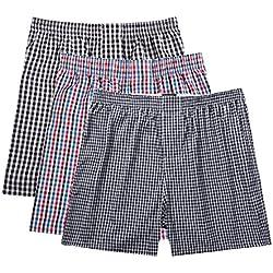 Pau1Hami1ton B-01X Bóxer para Hombre Cuadros Calzoncillos Ropa Interior Slip Trunks Boxer Shorts(Pack de 3)(XL,A7)