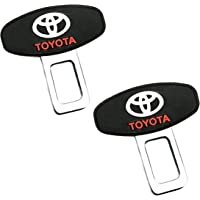 Set of 2 Car Safety Alarm Stopper Null Insert Seat Belt Buckle Clip for All Cars (Toyota Design) by e-generix™