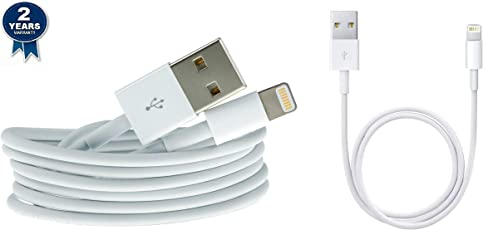 CASVO iPhone 6+ Compatible Combo of 2 USB Cables & OTG (White)