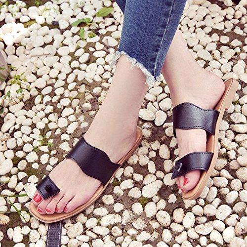 ZYUSHIZ Frau Coole Hausschuhe reine Farbe Sommer Sandalen Hausschuhe 37EU