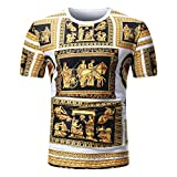QUINTRA 2018 Männer Sommer Casual African Print O Hals Pullover Kurzarm T-Shirt Top Bluse