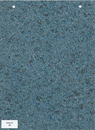 0003- Blue mosaic effect Supreme Quality Anti Slip Vinyl Flooring Home Office Kitchen Bedroom Bathroom High Quality Lino Modern Design 3M wide (Treadfast) 3X6