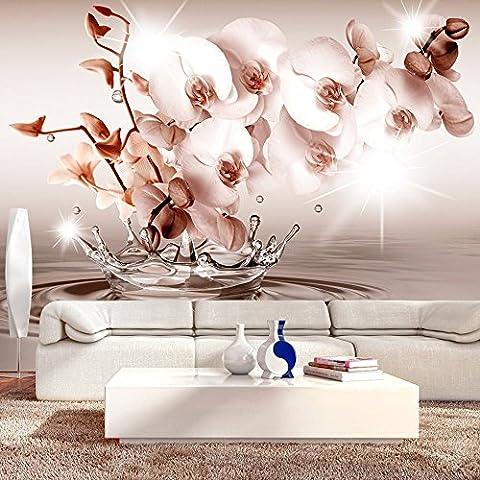 Fotomural 150x105 cm - 3 tres colores a elegir - Papel tejido-no tejido. Fotomurales - Papel pintado - flores abstracto agua